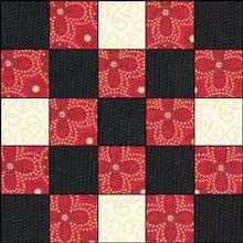 Simple Square Quilt Patterns Unique This Week's Easy Quilt Block Is Made Of Nine Small Fabric Squares