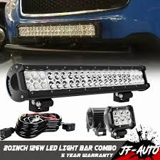 Bull Bar With Led Light Bar Details About For Subaru Forester Toyota 126w Led Light Bar Bull Bar Fog Driving Pods Wire Kit