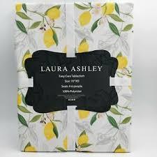"New Laura Ashley Lemon Zest 70"" Round Easy Care Tablecloth Seats 4-6 People  | eBay"