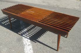 Slatted Coffee Table Uhuru Furniture Collectibles Sold Slatted Danish Coffee Table