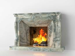 classic marble fireplace 01 3d model