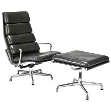 eames soft pad executive chair. Simple Pad Leather Soft Pad Executive Chair And Ottoman By Charles Ray Eames For  Sale Inside L