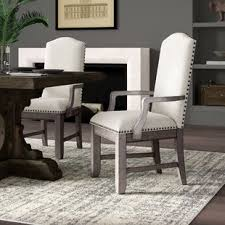 devers upholstered dining chair set of 2