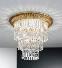 milord crystal large ceiling light french gold kolarz lighting