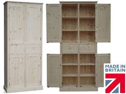 Solid Wood Cupboard 7ft Tall Handcrafted LarderPantry Solid Wood Pantry Cabinet70