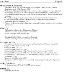 Sample Resume Doc Social Work Resume Example Professional Social ...