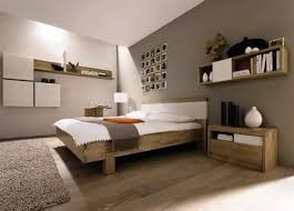 Small Bedroom with Grey Accents in Small Bedroom Design Idea. The mezzanine  bedroom follows a
