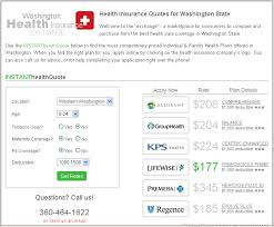 instant health insurance quotes for washington state