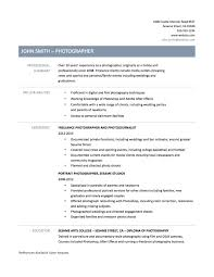 Photographer Resume Find Your Sample Resume