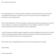 Sample Letter Of Proposal For Service 5 Proposal Acceptance Letters Find Word Letters