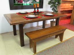 Small Kitchen Tables With Bench  OutofhomeOak Table Bench