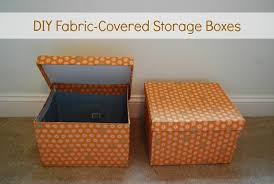 Storage Boxes Decorative Fabric How is it now DIY FabricCovered Storage Boxes The Borrowed 15