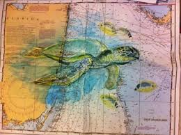 Paintings On Nautical Charts Nautical Chart Watercolor Painting Google Search Jeremy