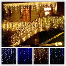 Christmas Garland Led Curtain Icicle String Light 220v 4 5m