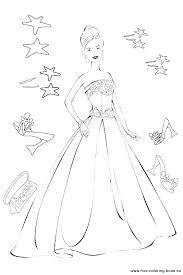 Barbie Coloring Pages Fashion Barbie Free Coloring Pages Barbie