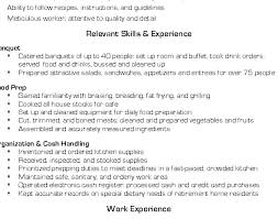 Cook Resumes Beauteous Resume Samples Skills Prep Cook Sample Dewdrops
