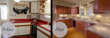 Refurbish Kitchen Cabinets How To Refurbish Kitchen Cabinets After Kitchen Before Kitchen