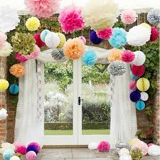 25 cm tissue paper pom poms wedding engagement party home