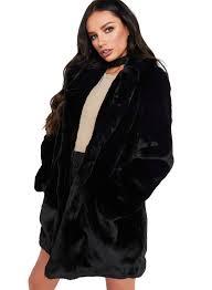 turn down collar faux fur coat oasap com loading zoom