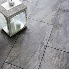 Bathrooms Design : Gray Bathroom Floor Tile Indus Dark Grey Stone Effect  Porcelain Wall Pack Of Bq Prd L W Departments Diy At Q Tiles Big White And  Gloss ...