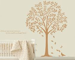 >linden tree wall decal with quotes vinyl tree wall art stickers linden tree quotes wall decal