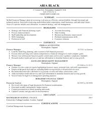 auto finance manager resume samples best summary and highlights