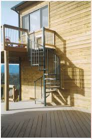 Exterior Steel Staircase with Pipe Rail