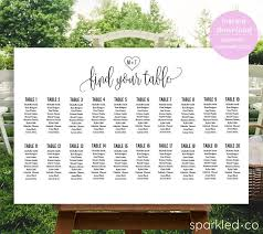 Wedding Seating Chart Sign Wedding Seating Chart Template Seating Template Diy