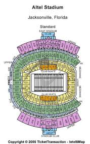 Tiaa Stadium Seating Chart Jacksonville Jaguars Stadium Seating Capacity