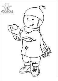Caillou Coloring Pages In Winter Get Coloring Page