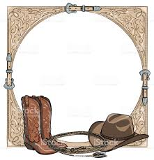 cowboy western horse equine riding tack tool in the western leather clipart frames