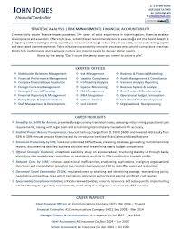 Sample Of Executive Resumes Financial Controller Resume Example