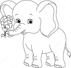 Small Picture Cartoon Elephant Coloring Pages Miakenasnet