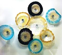 hand blown glass plates home and furniture enthralling glass wall plates at wall art plates glass