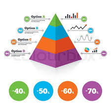 Pyramid Chart Template Sale Discount Stock Vector