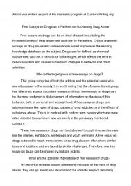 academic guide to writing basics of an essay about drugs essay about drugs
