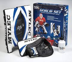 Mylec Goalie Set Blue White Black 21 Inch Amazon Co Uk