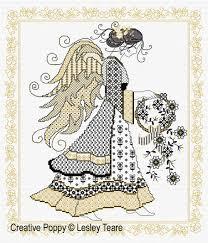 Angel Cross Stitch Patterns Awesome Lesley Teare Designs Blackwork Angel Blackwork Pattern
