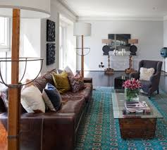 view in gallery the brown leather sofa
