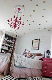 view in gallery gold polka dot decals used on the ceiling