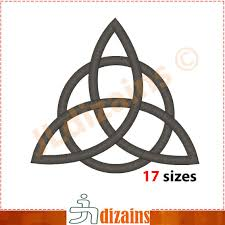 Celtic Knot Embroidery Designs Triquetra Embroidery Design Trinity Knot Embroidery Celtic