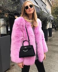 h m trend candy pink faux fur jacket coat size us 6 eur 36