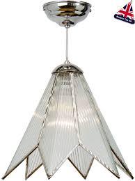 star pendant lighting. Small Chrome Art Deco Star Ceiling Pendant Light UK Made Lighting T