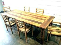 farm style dining table farmhouse furniture set reclaimed wood with leaf chairs kitchen and ashley room
