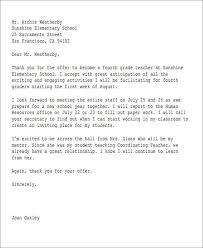 Offer Letter Acceptance Mail Format 14 Job Acceptance Letters