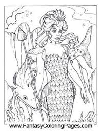 Small Picture Realistic Mermaid Coloring Pages hard mermaids colouring pages
