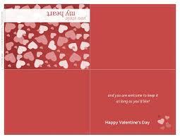 Quarter Cards Valentines Day Card Quarter Fold