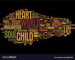 Word Of Nature The Nature Of Soul Text Background Word Cloud Vector Image