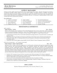 Supply Chain Management Resume Sample Cool Idea Tomyumtumweb Com