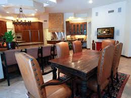 rustic leather dining chairs. Eclectic Kitchen Design With Rustic Leather Nailhead Dining Chair And Wood Table Chairs